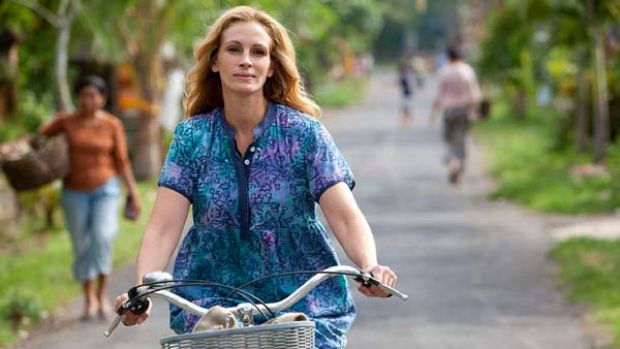 Road less travelled ... Julia Roberts's character searches for happiness after her marriage ends.