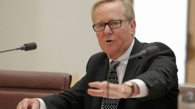 Quentin Dempster appearing before the Senate committee.