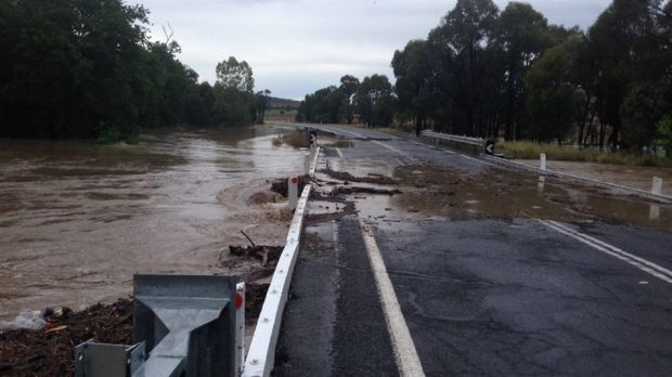 Flooding in the Banana Shire region.