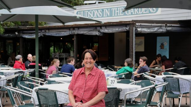 Wendy Hudson at her cafe in the Botanic Gardens in 2012.