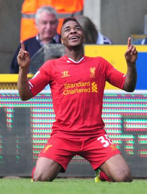 Big money: Raheem Sterling has apparently rejected a £70,000-per-week pay offer by Liverpool.