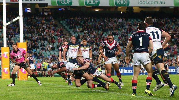 The Cowboys take on the Roosters during the NRL play-off at Allianz Stadium.