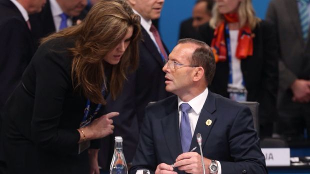 Listen up: Tony Abbott gets advice from Peta Credlin. One Liberal MP has accused her of 'poisoning the Prime Minister ...
