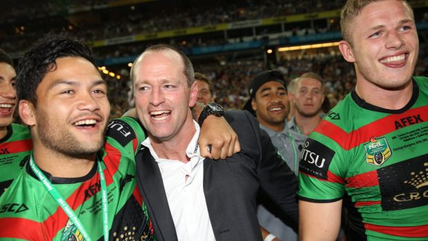Returning the favour: Issac Luke wants to give Rabbitohs coach Michael Maguire a premiership ring.