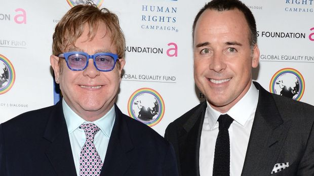 Just married: Elton John and long time partner David Furnish tied the knot in a small ceremony attended by friends David ...