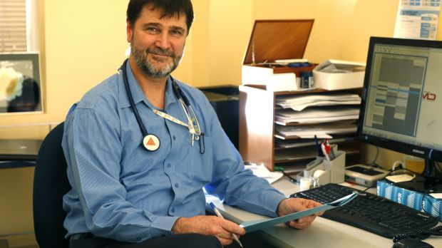 Out of pocket: Dr Ralph Audehm at Dianella Community Health in Broadmeadows, Melbourne. He is likely to start charging ...