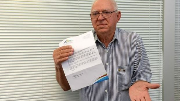 Dennis Kington, who does not own a dog, received a notice from the council about unregistered dogs on his property.