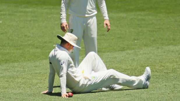 Michael Clarke after sustaining another hamstring injury