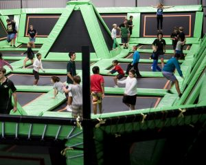 Flip Out's trampoline park will be open in Civic Square until Boxing Day.