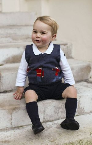 Chuckle: The endearing images were released as a thank-you to the media for respecting the young prince's privacy.