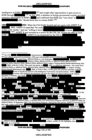 A page from the Senate intelligence committee's report.