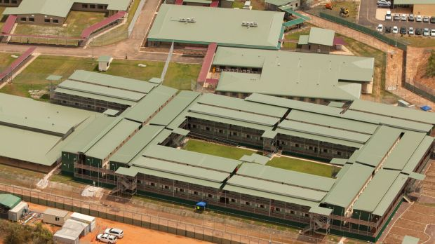 The  Wickham Point Immigration Detention Centre in Darwin, where a 33-year-old Iranian man is in a near-critical ...