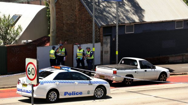 Police at the scene of the fatal incident in Rozelle in December.