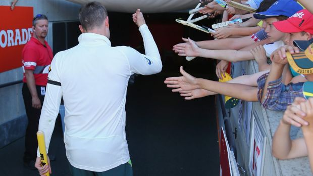 Michael Clarke leaving the field during the first Test.