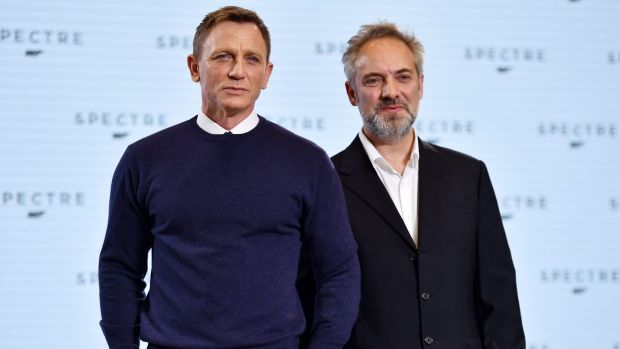 James Bond star Daniel Craig pictured with director Sam Mendes. The screenplay for the next Bond film has been stolen by ...