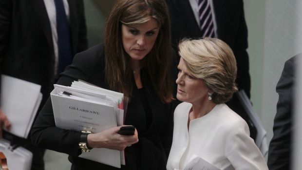 """The dreary cliche of powerful women at loggerheads, Peta Credlin and Julie Bishop, has been wheeled out."""