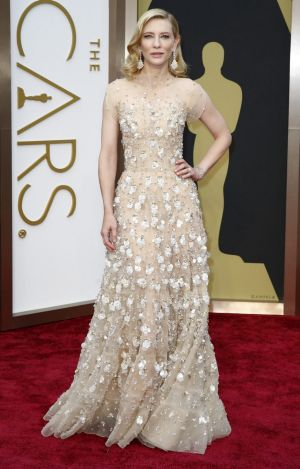He turned his attention to womenswear and the red carpet: Cate Blanchett at the 86th Academy Awards in Los Angeles in ...