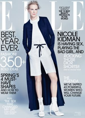 Short shift: Nicole Kidman on the cover of <i>Elle</i>.