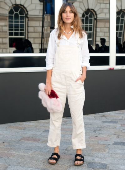 Slides: Not only does Alexa Chung wear slides, but she also pairs them with baggy overalls.
