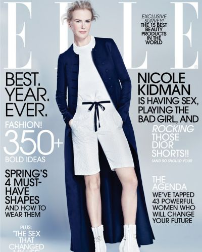 Nicole Kidman's latest <i>Elle</i> cover has a terrible fashion moment in the form of Bermuda shorts.