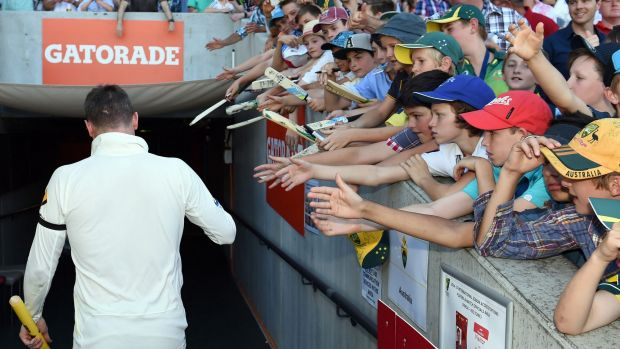 Australian captain Michael Clarke sustained substantial damage to a tendon in his right hamstring during the first Test ...