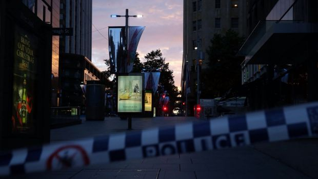 Sunrise at Martin Place after the siege ended.