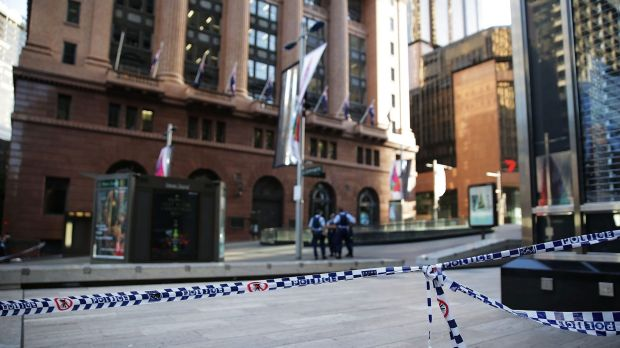 The site of the Sydney siege at Martin Place.