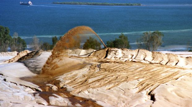 Sand mining on Stradbroke has become a key election issue in the marginal seat of Bowman.