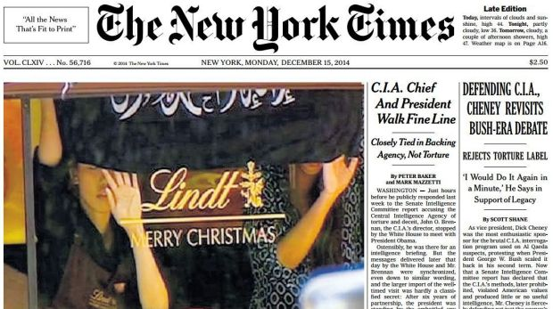 Bold image: The siege on the front page of <i>The New York Times</i>.