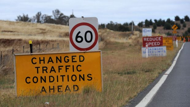Some westbound lanes on Parkes Way have been temporarily closed due to road works, with a 60 km/hour speed limit in place.