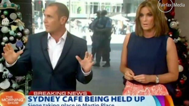 """""""Both our hearts were breaking"""": Larry Emdur and Kylie Gillies live on air as police swarmed Martin Place."""