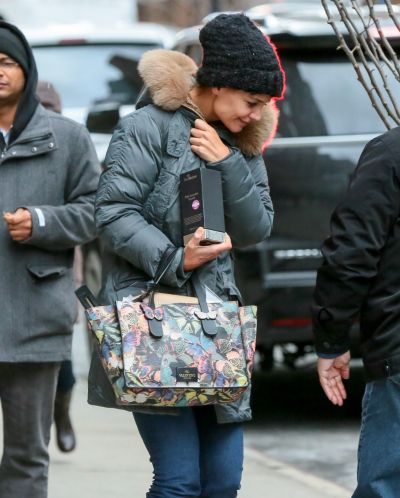 Katie Holmes is seen in New York City on December 11, 2014 in New York City.