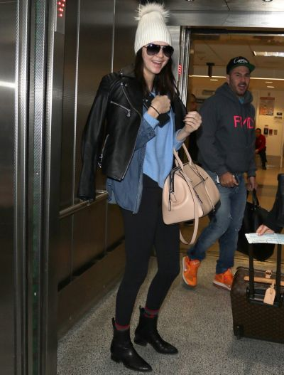 Kendall Jenner is seen at LAX on December 14, 2014 in Los Angeles, California.