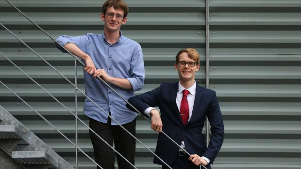 Sydney Grammar School student Grant Kynaston (left) came first in four subjects, while Fort Street High School student ...