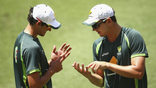 Baggy greenhorns: Josh Hazlewood will make his Test debut, while Mitchell Starc comes in to replace the vastly ...