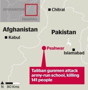 Where the Taliban attack on the school took place in Pakistan.