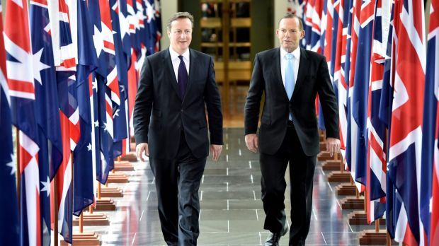 British Prime Minister David Cameron believes Australia will not want to be viewed as the 'back marker' on climate change.