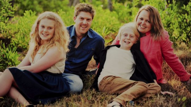 A family photograph of Stuart and Jenny Heddle and their two children Jordan, 15, and Aidan 12, taken 2 years ago.