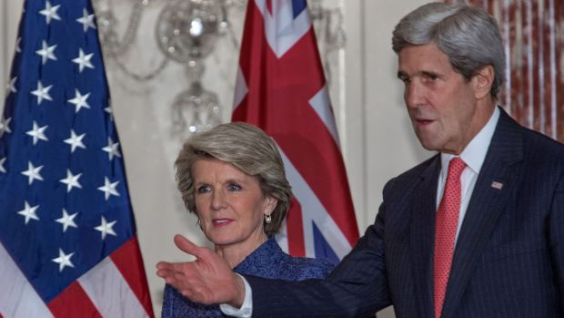 Foreign Minister Julie Bishop with US Secretary of State John Kerry last year.