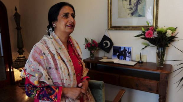 Pakistan High Commissioner to Australia, Naela Chohan was moved to tears as Canberra school children delivered flowers.