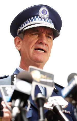 NSW Police Commissioner Andrew Scipione in Martin Place on Wednesday.