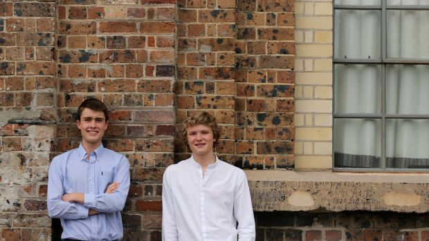 Cranbrook School students Edward Hodge (left) and Jack Jahn (right) came first in the state in Design and Technology and ...