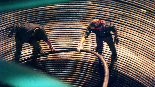 Cables that lie deep in the ocean carry much of the internet's traffic.