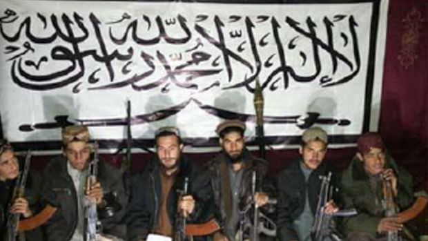 This picture released by the Pakistani Taliban shows the militants who allegedly stormed an army-run school in Peshawar.