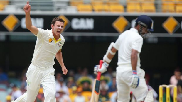 In doubt: Josh Hazlewood may miss the fourth Test against India in Sydney.