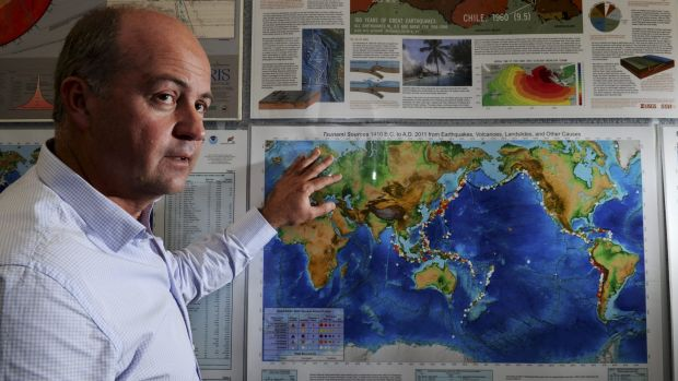On alert: Rick Bailey, head of  tsunami warning and ocean services, at the Bureau of Meteorology.