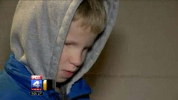 Blind since birth ... Eight-year-old Dakota Nafzinger.
