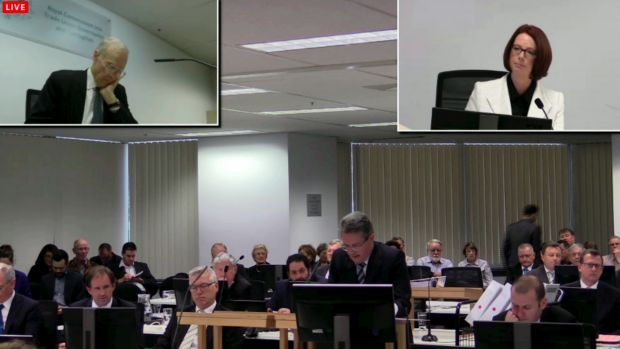 A screen grab of Ms Gillard's appearance at the September hearing.