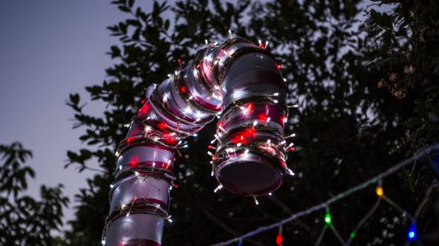 Eye candy: A detail from the Bissenberger Crescent lights.