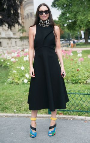Erica Packer as snapped on the street during Paris Haute Couture Fashion Week in August when she was a special guest of Dior.